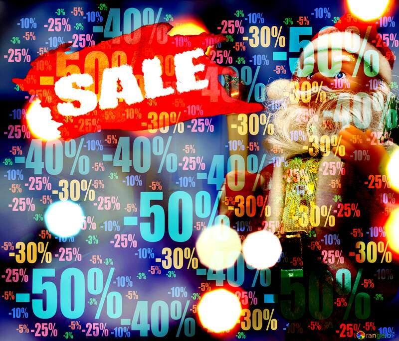 Store discount dark background. Santa Claus Christmas Sale №48162