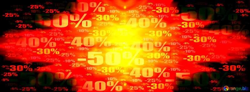 Sale banner template Store discount dark background. №9546