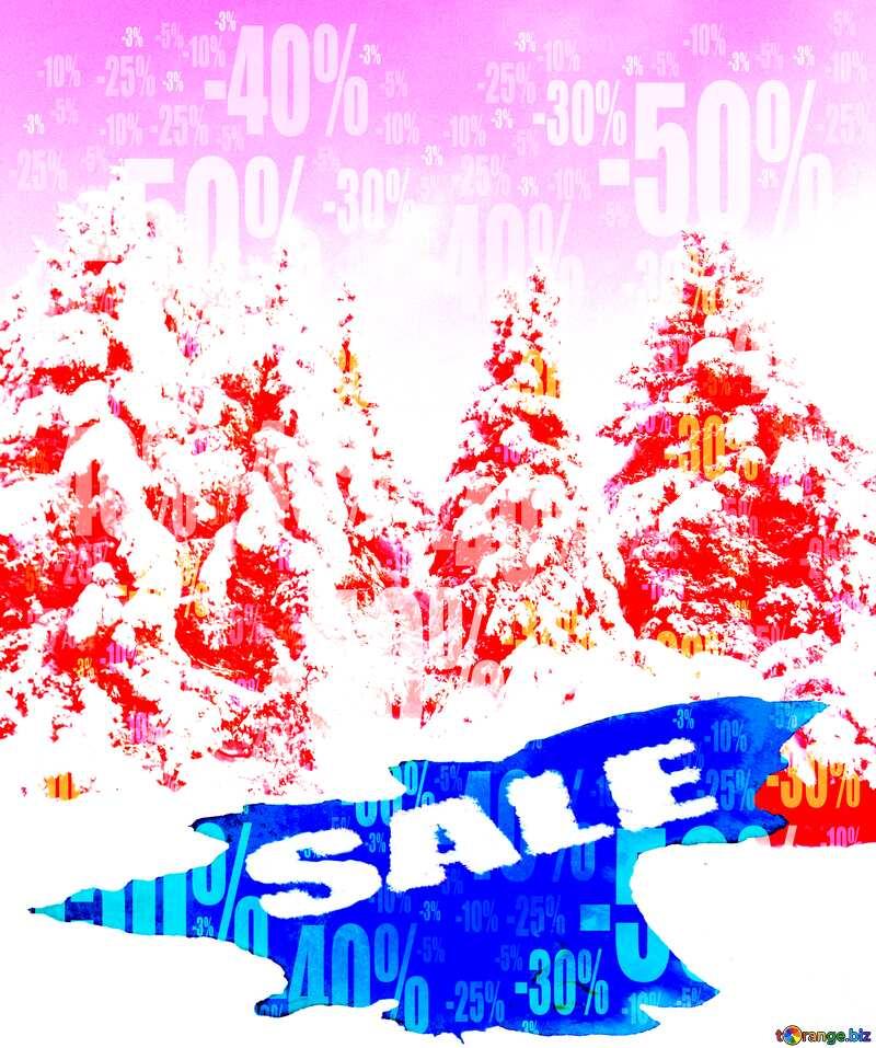 Winter Sale background Store discount dark background. №10576