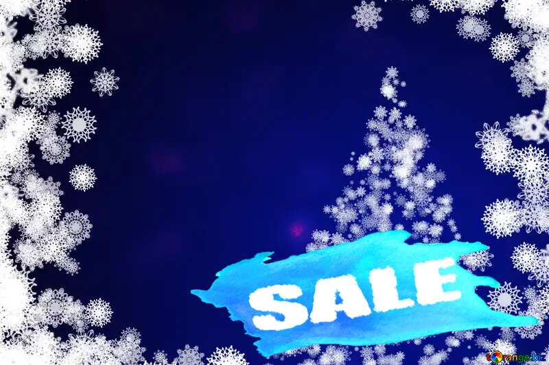 Christmas winter sale banner template design background Snowflakes №40697