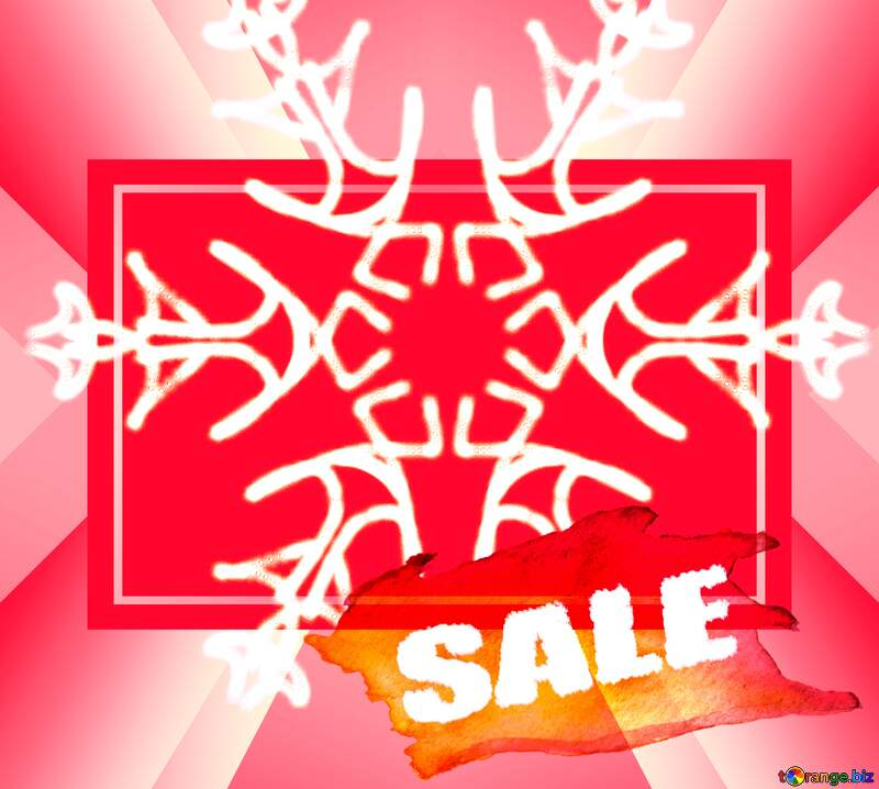 Snowflake hot winter sale banner template design frame background №40244