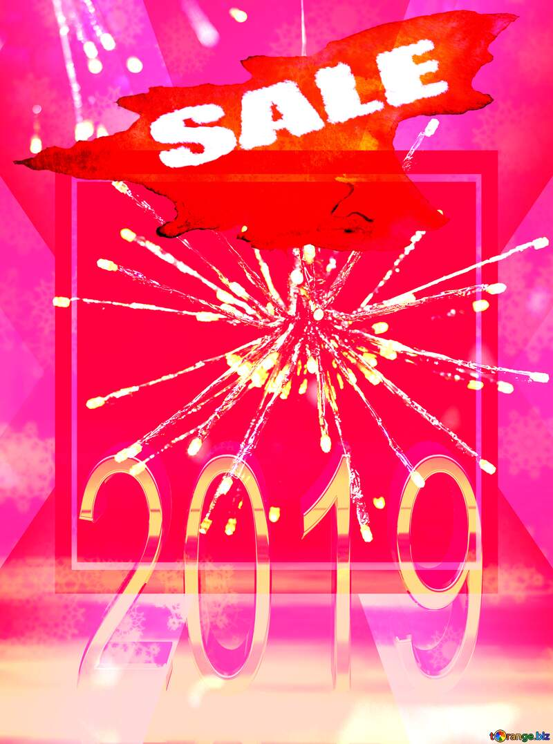 2019 Happy New Year winter sale banner template design Business Banner Background №47872