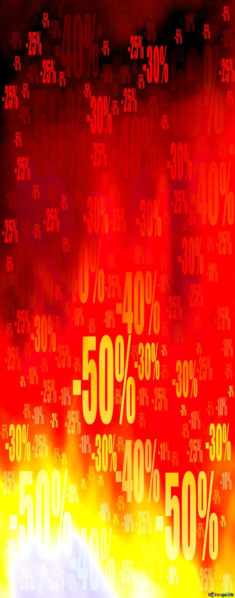 Red Fire Hot Sale background Store discount dark background. №9546