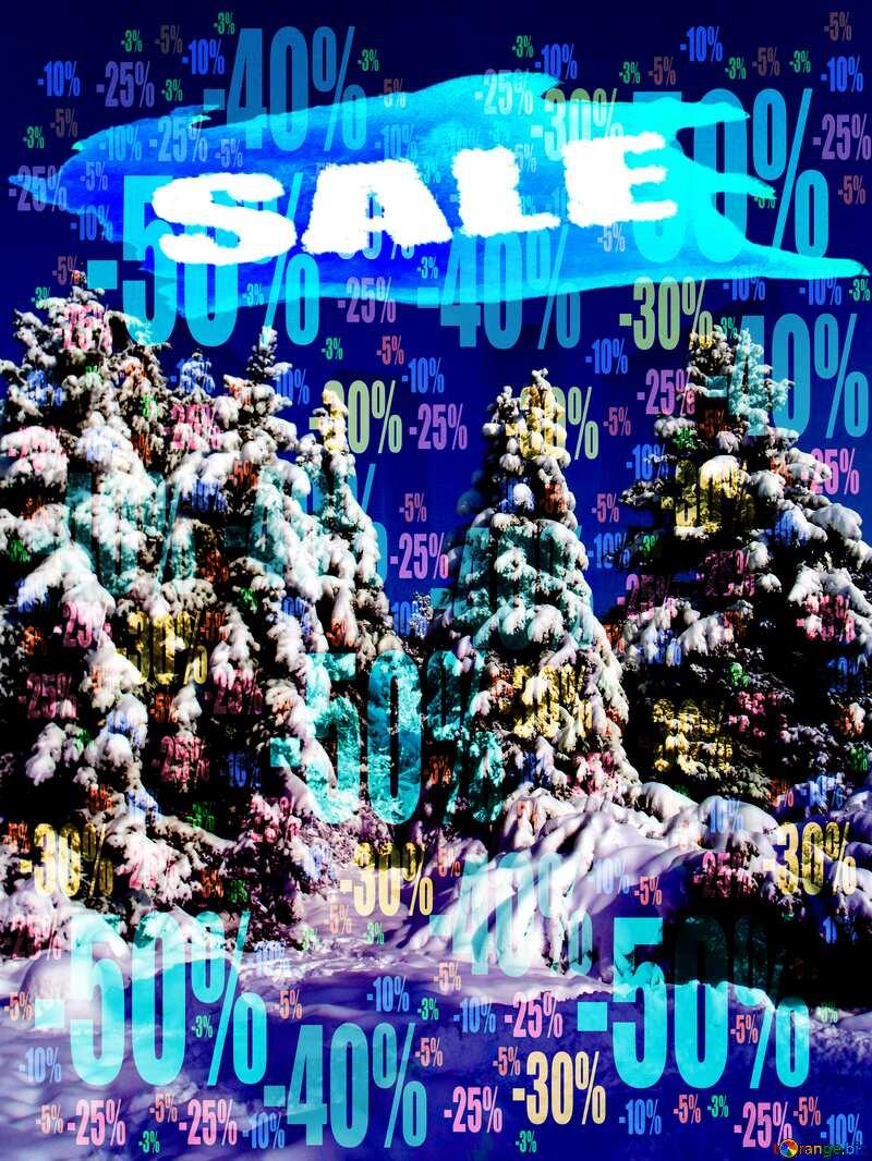 Winter sale Banner Background Store discount dark background. №10576