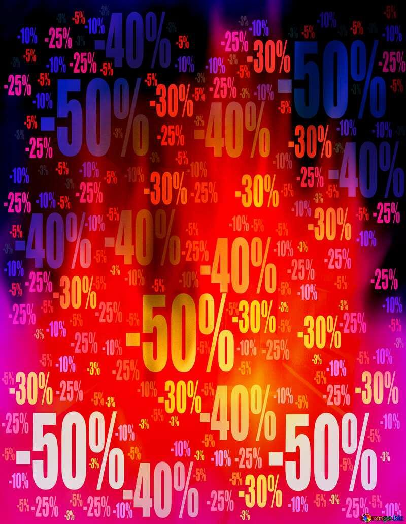 Hot Sale banner responsive fire Store discount dark background. №9546