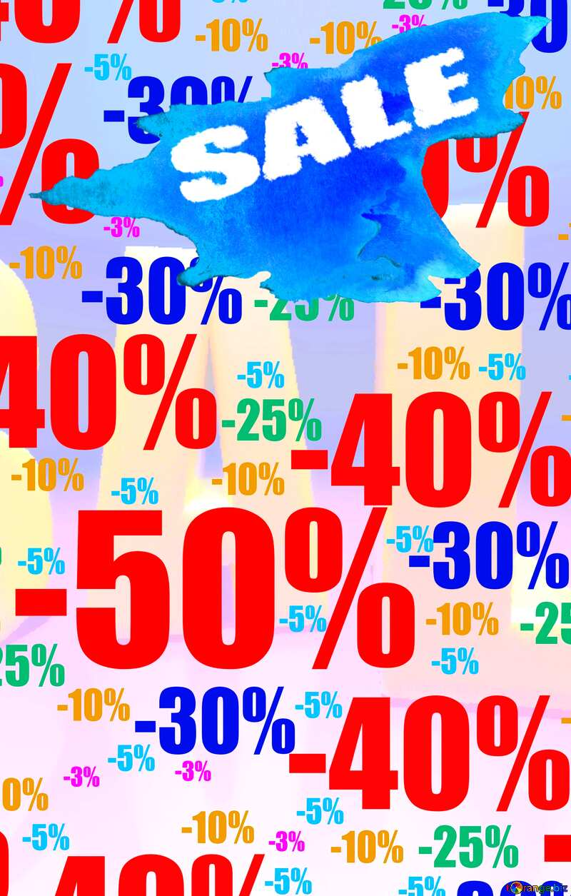 Store discount background. Winter sales poster promotion №51545