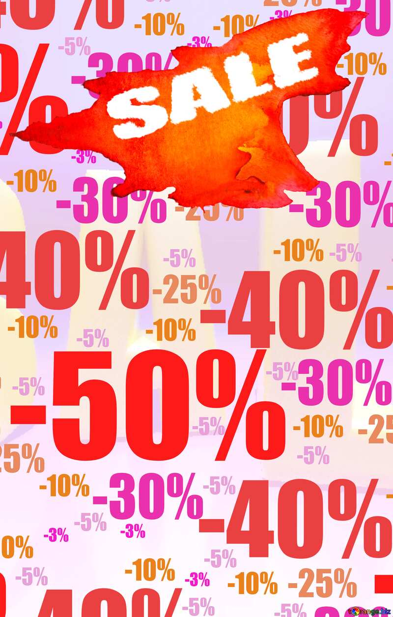 Store discount background. Autumn sales  promotion banner №51545