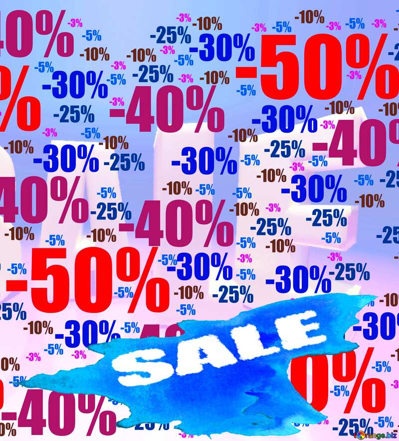 Store discount background. Winter sale poster №51545