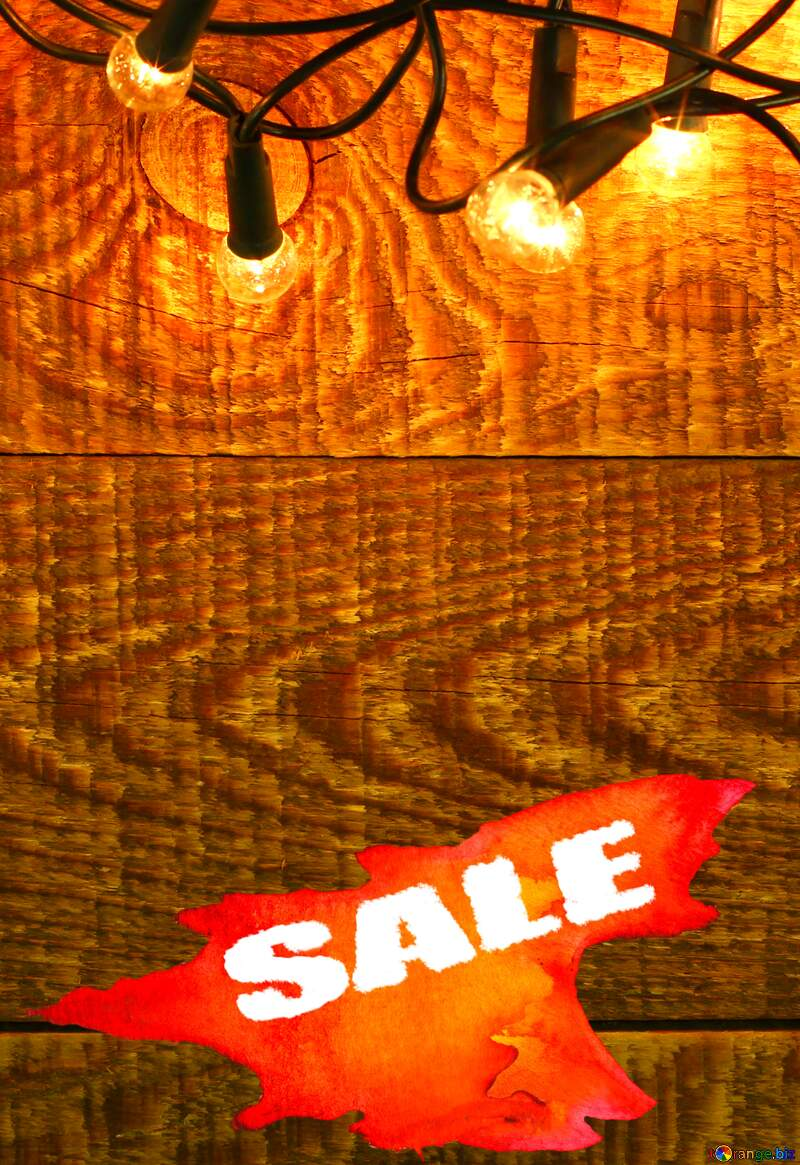 Christmas Garland on wooden wall backdrops Hot Sale background №37890