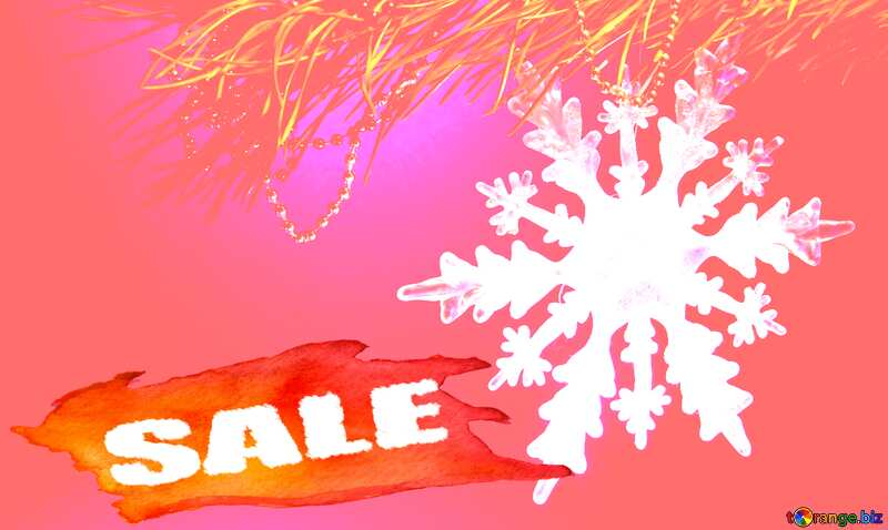 Winter sale snowflake soft red  template №2393