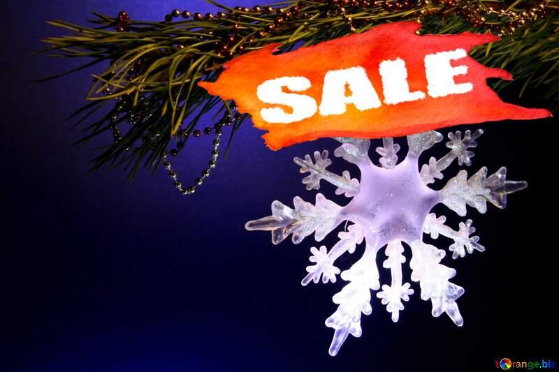 Winter sale snowflake  sales banner image №2393
