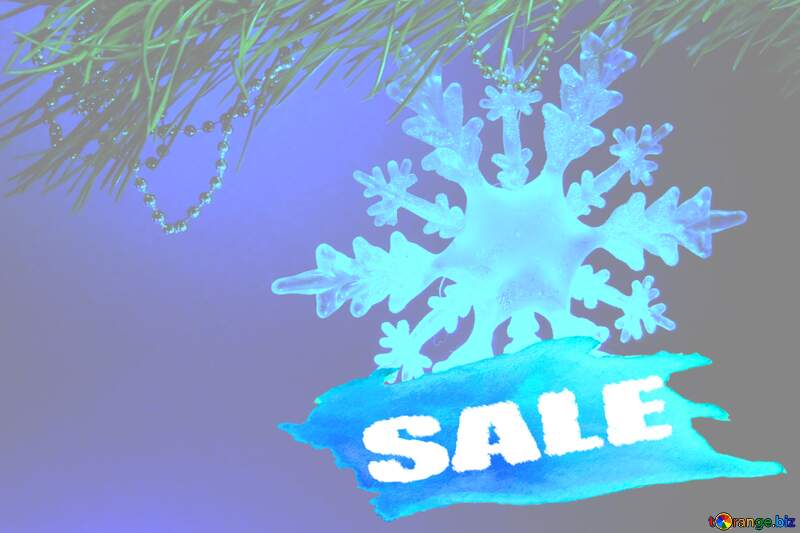 Winter sale snowflake soft  sign text template №2393