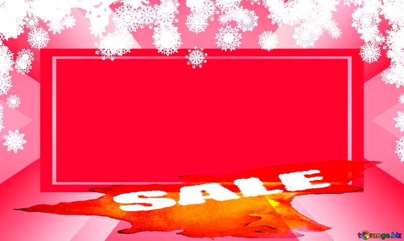 Clipart snowflakes frame powerpoint website winter sale template banner layout design responsive brochure business №41275