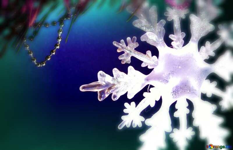 Winter sale snowflake  blur frame №2393