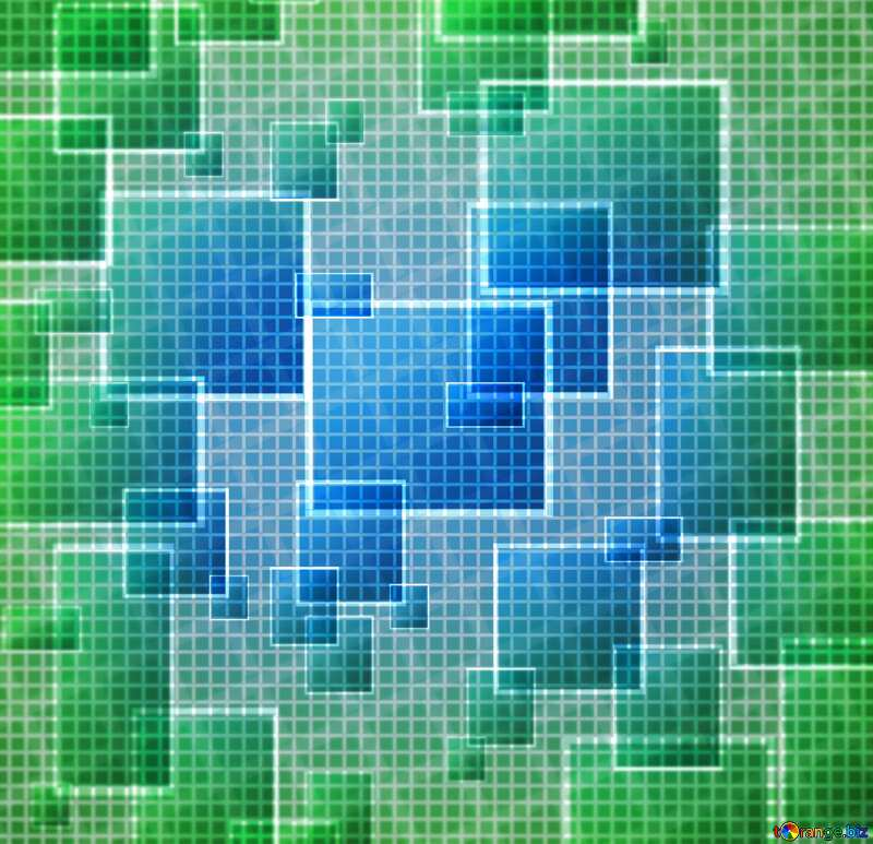 Technology background abstract tech squares blur  green  frame №49678