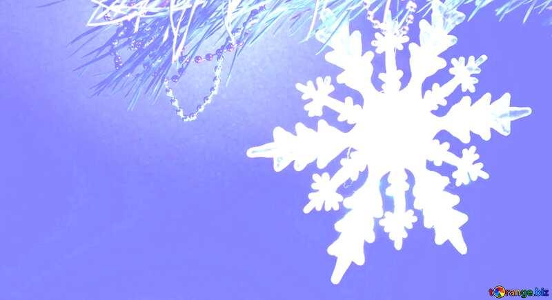 crystal snowflake light blue background №2393