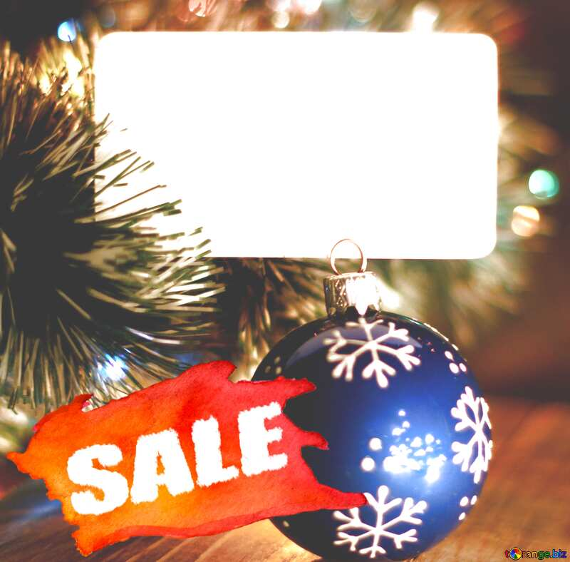 Christmas Sale background Template with Place for text №37840