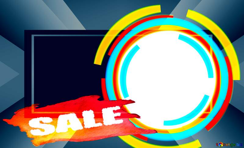 Infographics Circle Responsive Template sale poster banner Background №49680