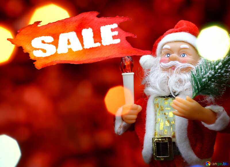 Concept Christmas Hot Sale Santa Claus Poster Red Banner Background №48170