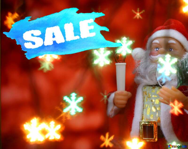 Concept Christmas Sale Santa Claus Poster Red Banner Background №48173