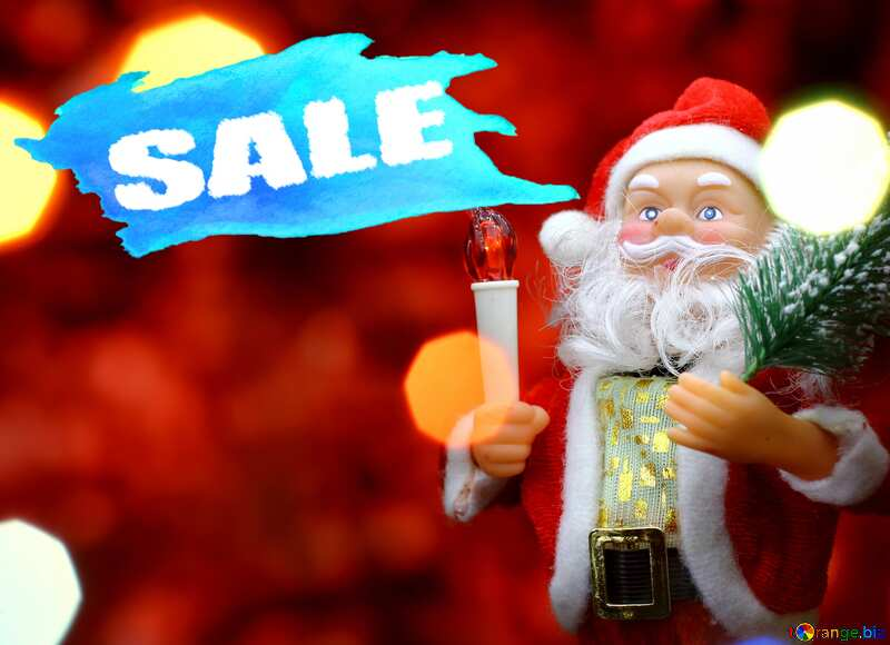 Concept Christmas Sale Santa Claus Poster Red Banner Background №48170