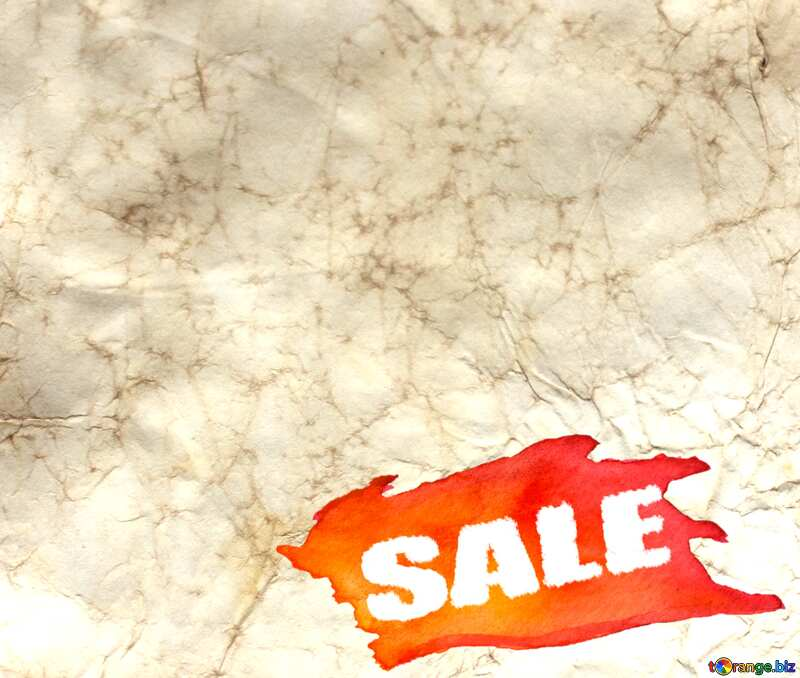 Texture of crumpled old paper Sale background №16030