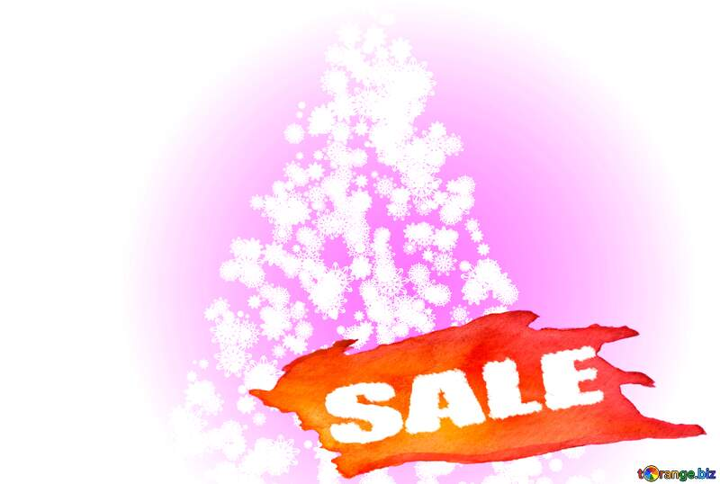 Christmas tree of snowflakes Sale background №40661