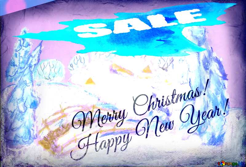 Landscape Snowy paint merry Christmas winter sale banner template design №49239