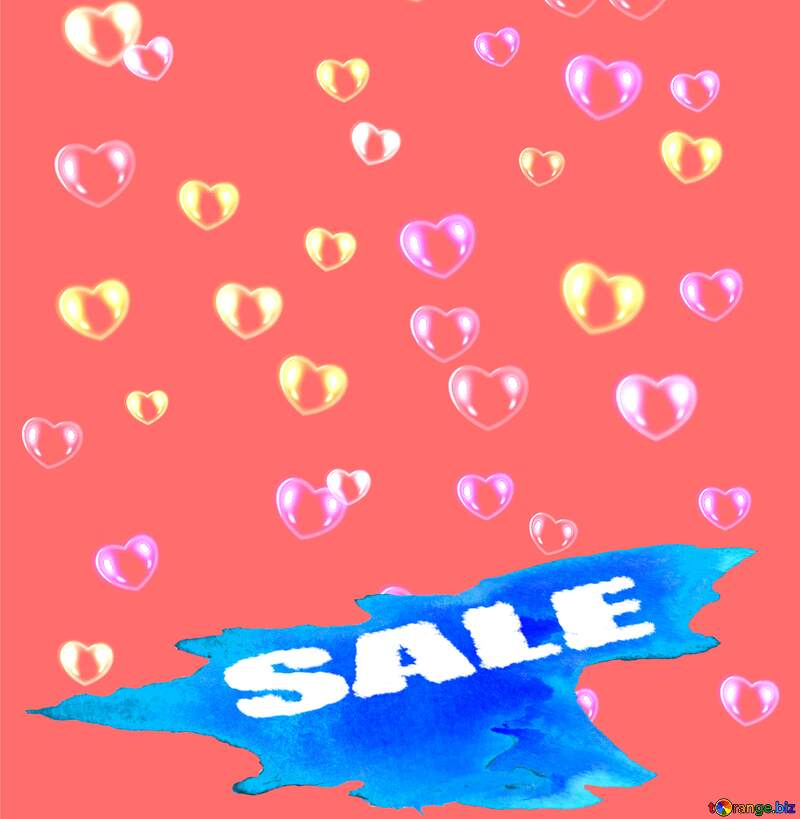 Background hearts Sale №39946