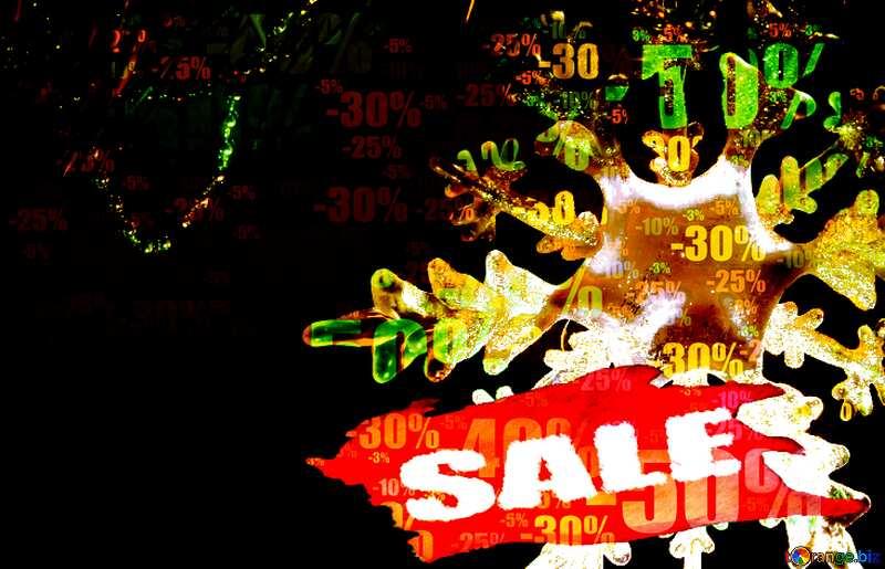 Store discount dark background. Snowflake Sale Template №2393