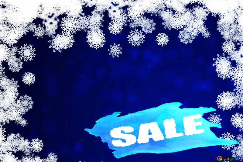 New year background with snowflakes Sales Template №40728
