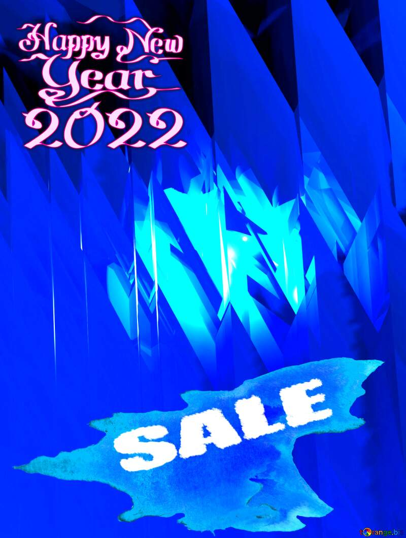 Winter sale Happy New Year 2021 Card Background Futuristic Shape Computer Cards Abstract №51524