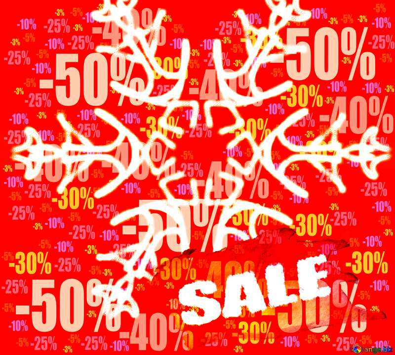 Snowflake hot winter sale banner template design frame background Store discount dark background. №40244