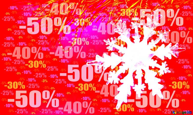 Winter sale snowflake bottom banner business responsive design Store discount dark background. №2393