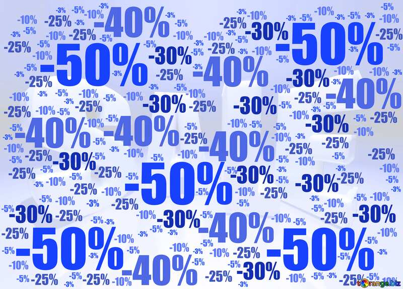 Store discount blue background. №51545