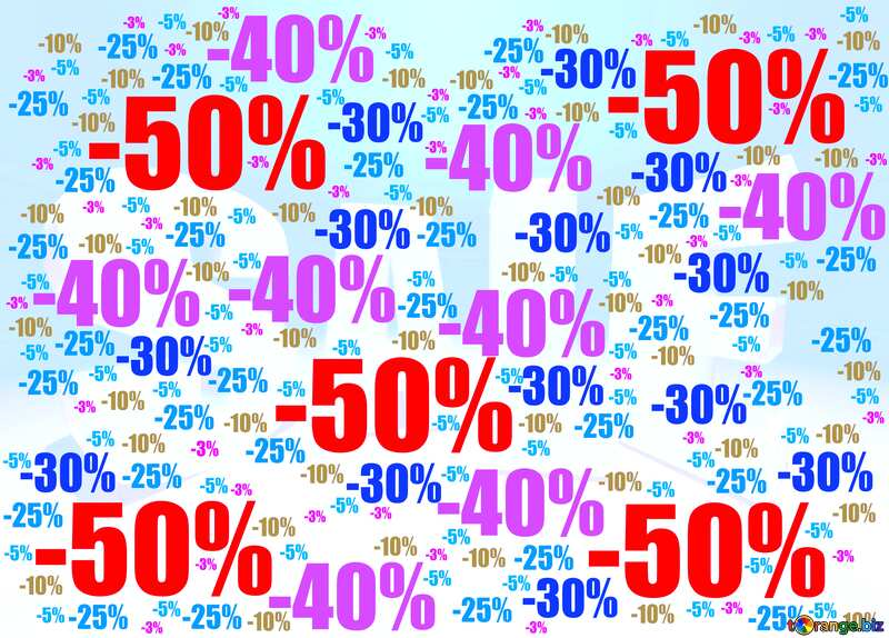 Store discount blue red background. №51545