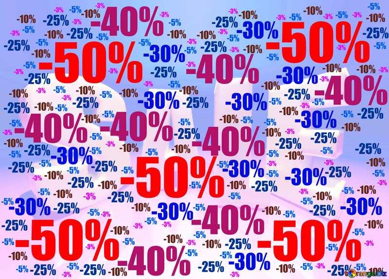 Store discount dark blue background. №51545