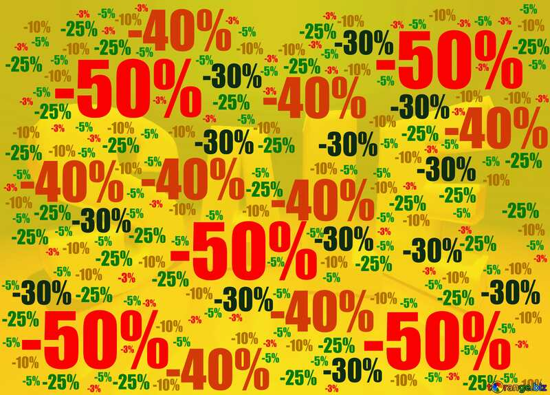 Store discount yellow background. №51545