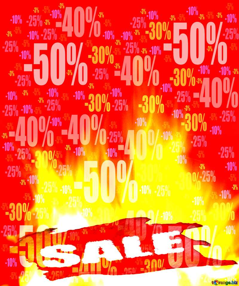Fire Wall Hot Sale Poster background Store discount dark background. №9546