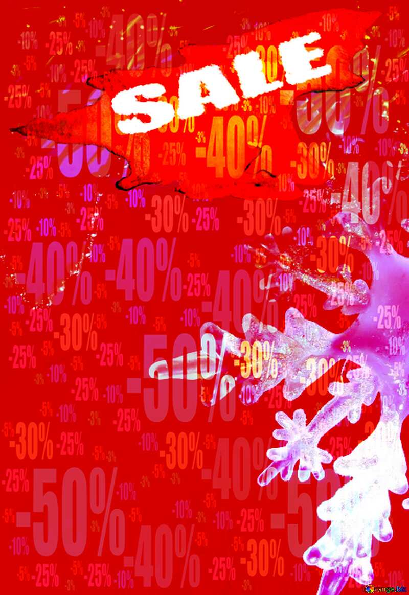Winter sale snowflake red hot promotion background Store discount dark background. №2393