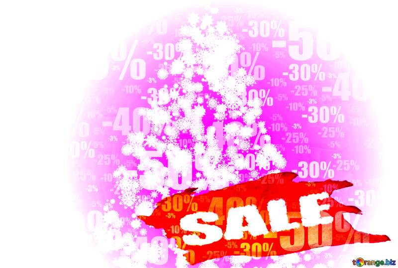 Christmas tree of snowflakes Sale background Store discount dark background. №40661