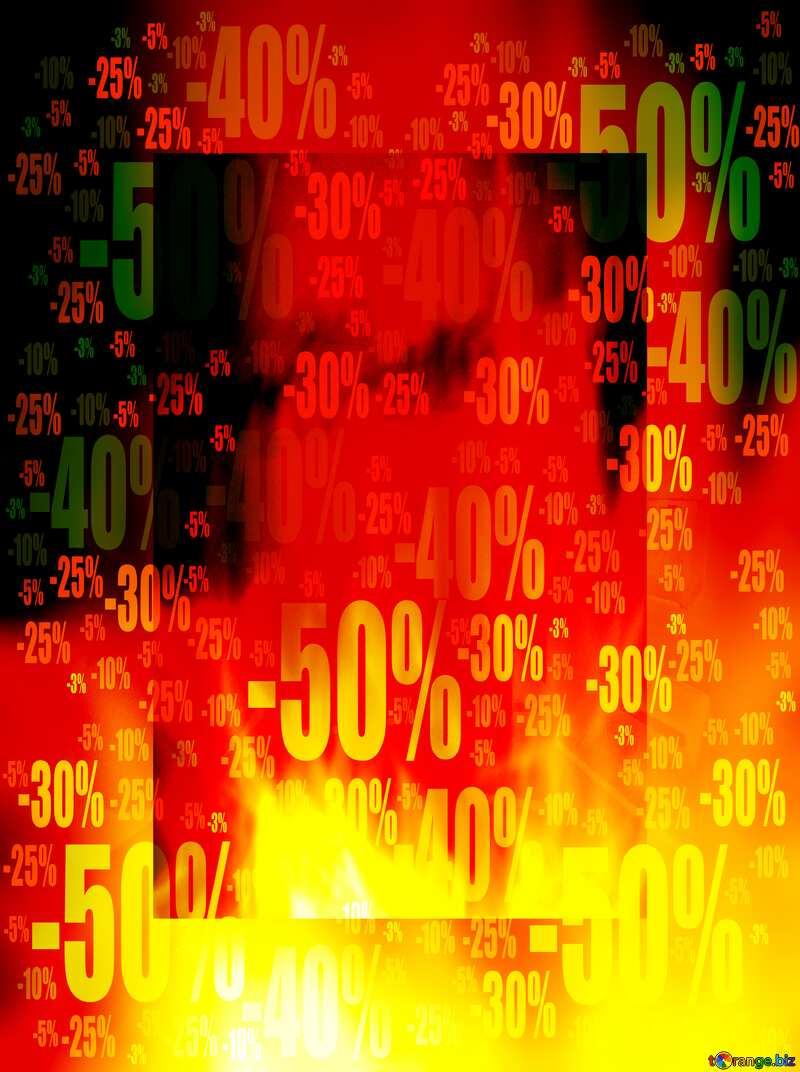 Big Sale banner responsive template business Store discount dark background. №9546