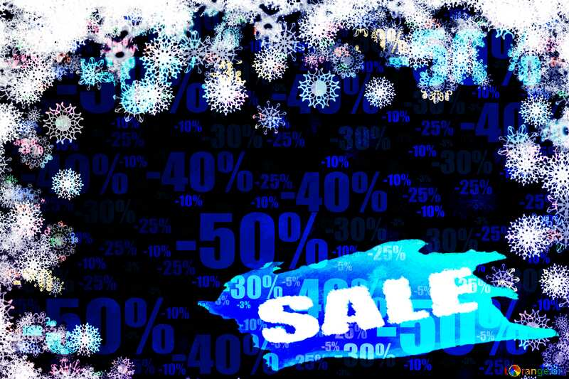 New year background with snowflakes Sales Template Store discount dark background. №40728