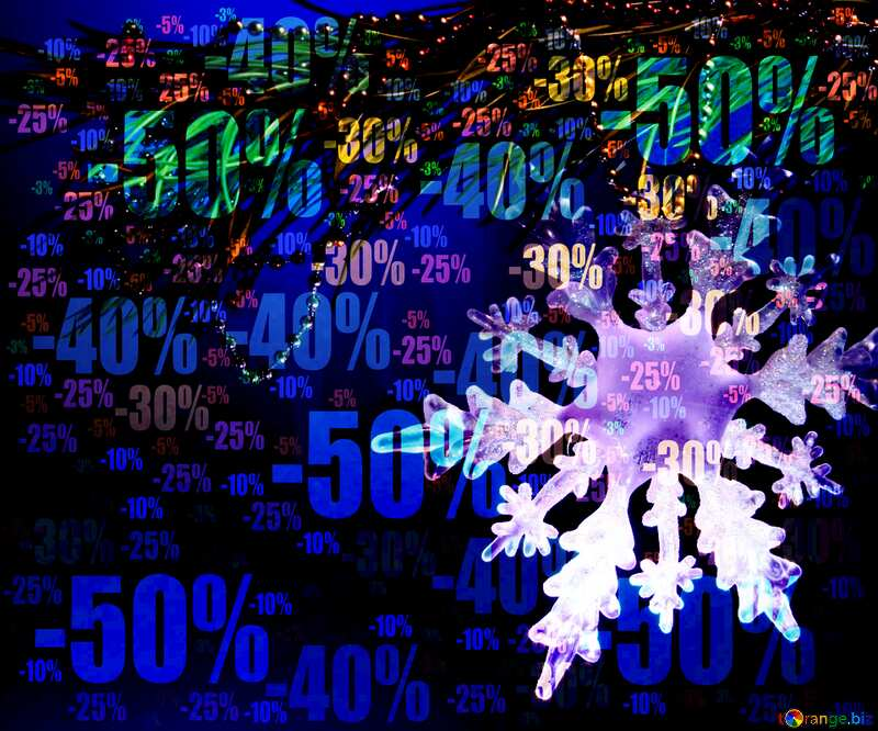 Winter sale snowflake blue draw background shopping paint Store discount dark background. №2393