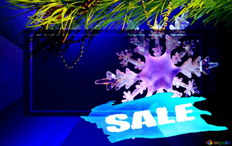 Winter sale snowflake  snowy banner design №2393