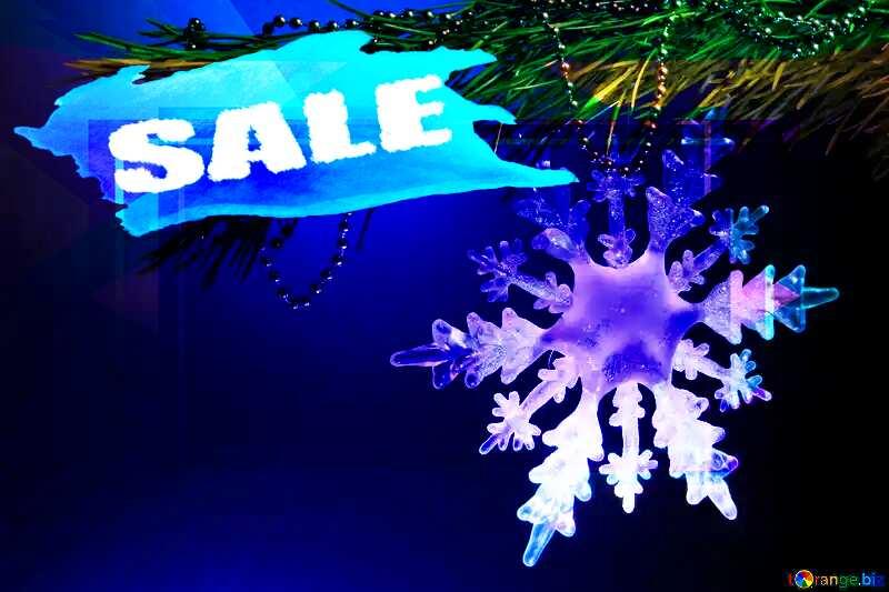 Winter sale snowflake  responsive design template №2393