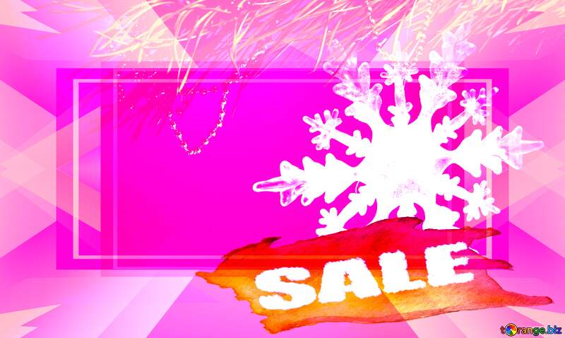 Winter sale snowflake  pink  responsive layout template №2393