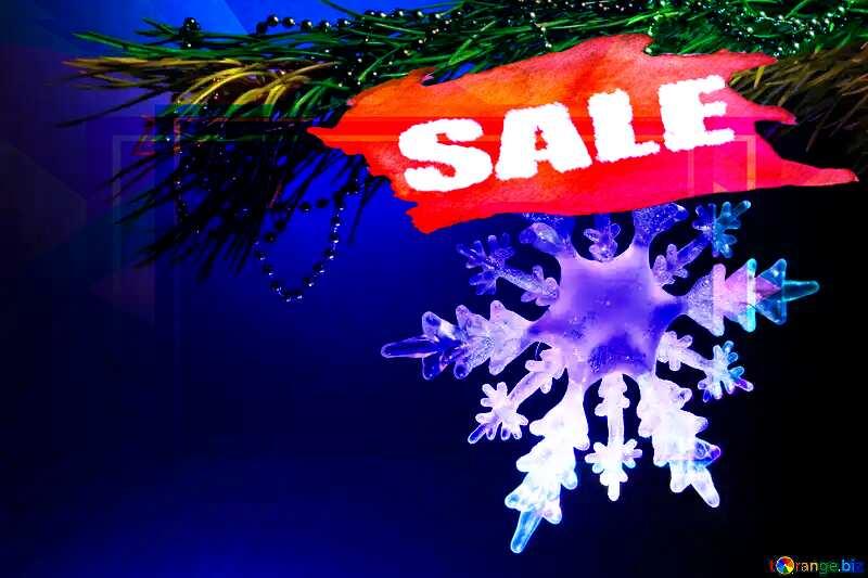 Winter sale snowflake  sales design responsive business illustration №2393