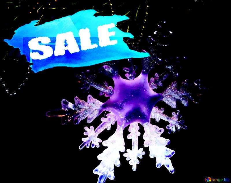 Winter sale snowflake  responsive design business №2393