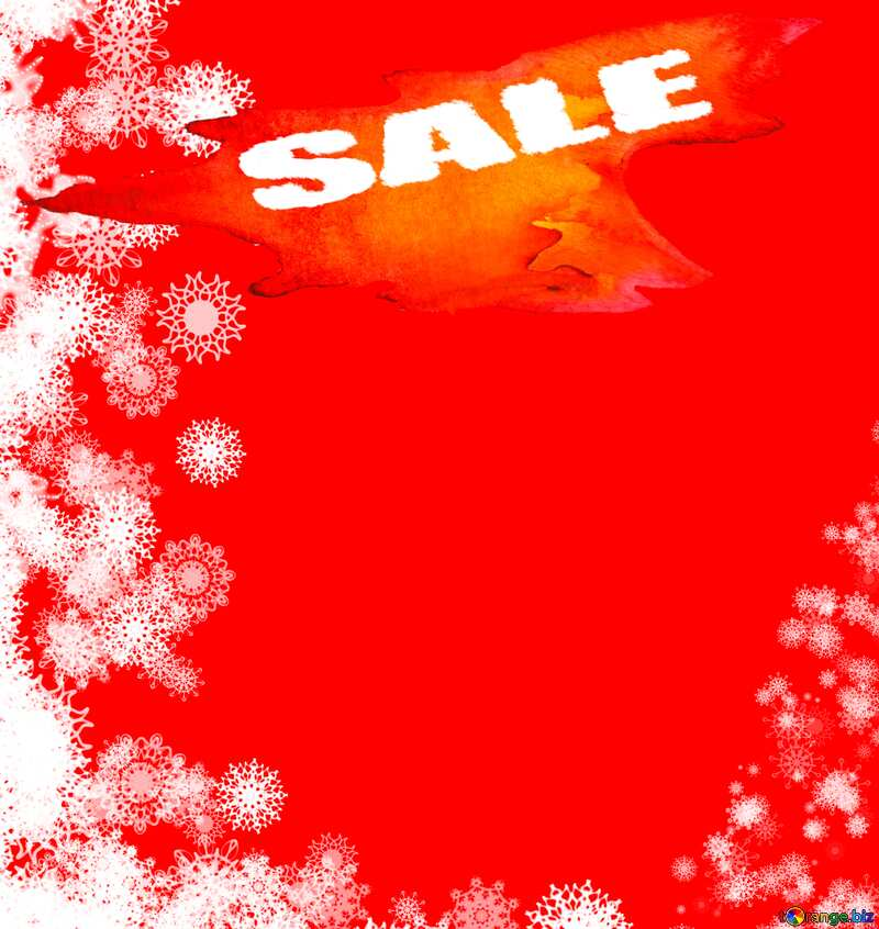 Background red Snowflakes winter sale banner template design background №40696